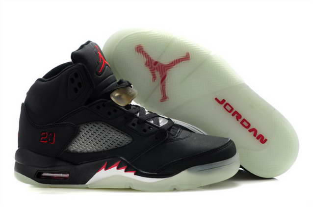 Womens Jordan V Shoes Black/Red